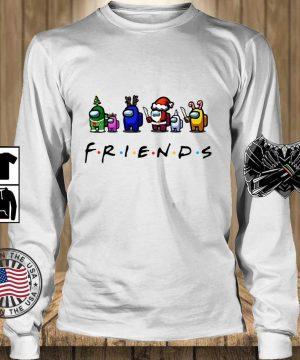 Among Us Friends Christmas sweater, s Teechalla longsleeve trang