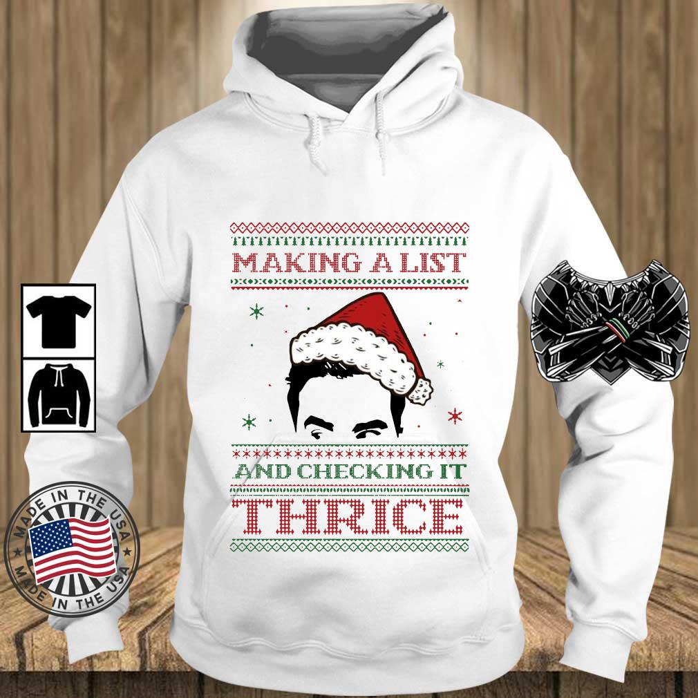 Making a list and checking it twice Ugly Christmas sweater Teechalla hoodie trang