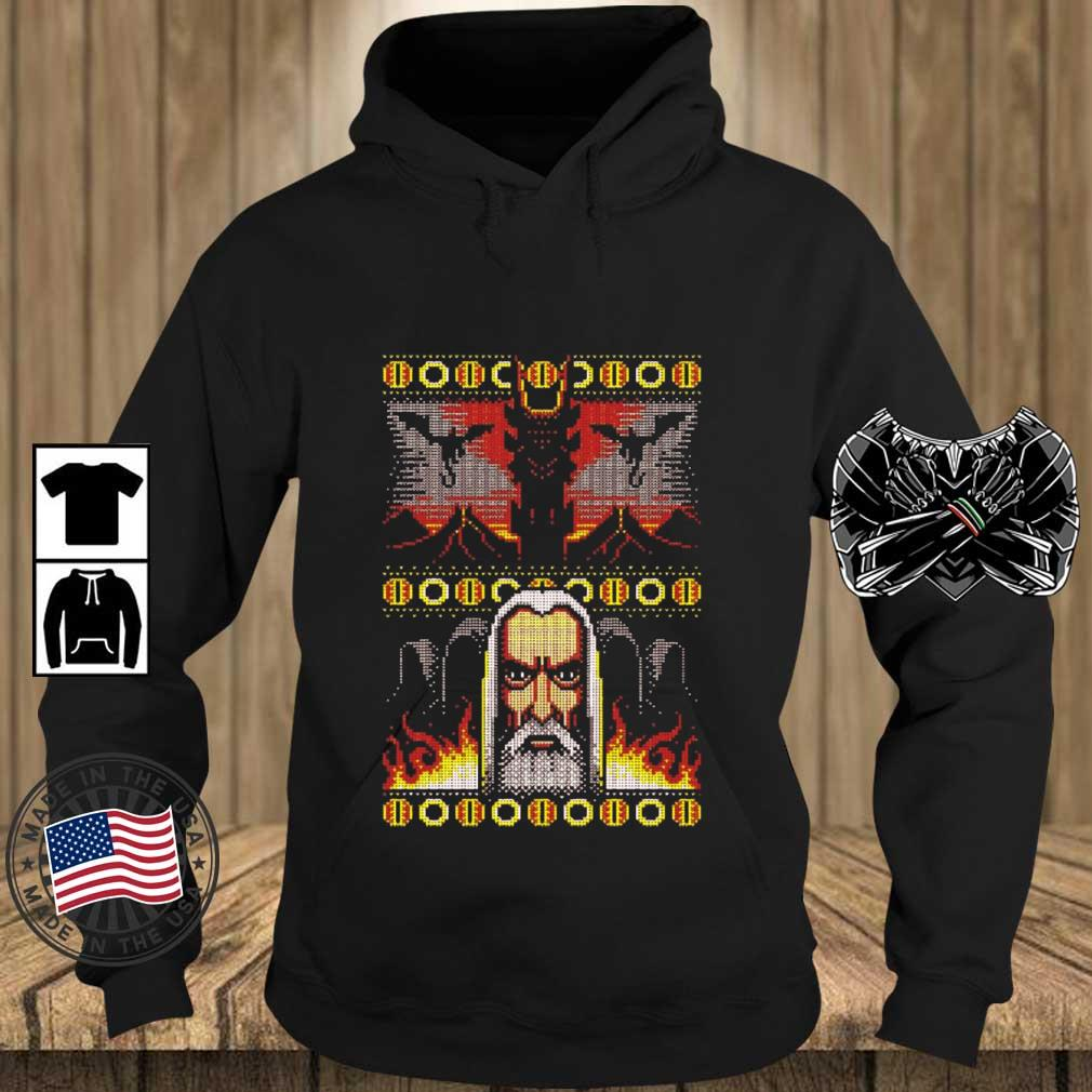 Official One Christmas To Rule Them All Ugly Christmas sweater Teechalla hoodie den