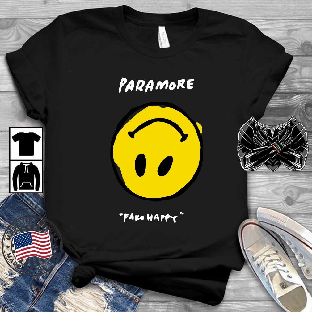 Paramore fake happy shirt