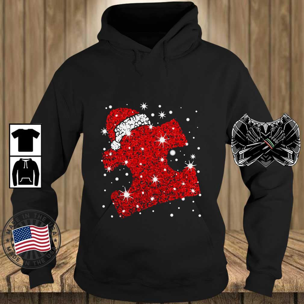 Santa Autism Diamond Christmas sweater Teechalla hoodie den